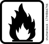 Flammable Packaging Symbol ...