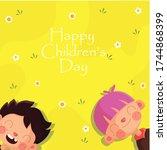 lovely children's day... | Shutterstock .eps vector #1744868399