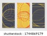brochure creative design.... | Shutterstock .eps vector #1744869179