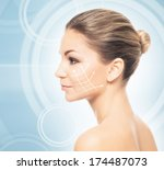 close up portrait of young ...   Shutterstock . vector #174487073