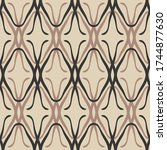 brown seamless pattern. colored ... | Shutterstock .eps vector #1744877630