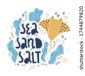 sea salt sand. hand drawn... | Shutterstock .eps vector #1744879820