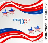 illustration of president day... | Shutterstock .eps vector #1744881719