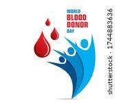vector illustration of donate... | Shutterstock .eps vector #1744883636