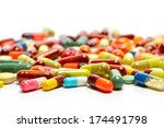 Various Pills Isolated On Whit...