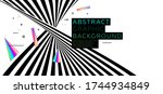 cover template with dynamic... | Shutterstock .eps vector #1744934849