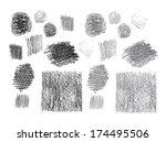 set of vector pencil hatching | Shutterstock .eps vector #174495506