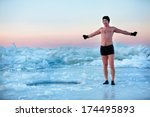 Man Is Going To Swimm In An Ice ...