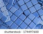 manufacturing blue mosaic tiles   Shutterstock . vector #174497600
