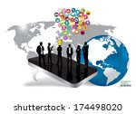 business people silhouettes... | Shutterstock .eps vector #174498020