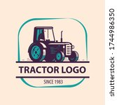 Farm Tractor Logo. Agriculture  ...