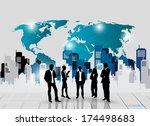 business people silhouettes... | Shutterstock .eps vector #174498683