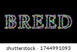 breed  3d illustration of the... | Shutterstock . vector #1744991093