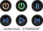 set of vector modern icons on a ...