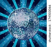 shiny and blue disco ball | Shutterstock .eps vector #174503066