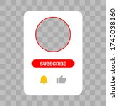 youtube profile interface white ...
