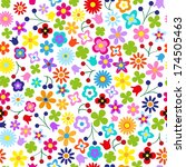flower seamless pattern for... | Shutterstock .eps vector #174505463