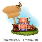 vector realistic tourism set | Shutterstock .eps vector #174506048