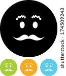 face with mustache vector icon   Shutterstock .eps vector #174509243
