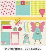 scrapbook design elements  ... | Shutterstock .eps vector #174510620
