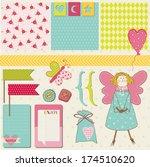 scrapbook design elements  ... | Shutterstock .eps vector #174510620