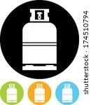 gas bottle vector icon | Shutterstock .eps vector #174510794