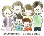 illustration of a smiling three ... | Shutterstock . vector #1745114813