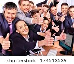 happy group business people... | Shutterstock . vector #174513539