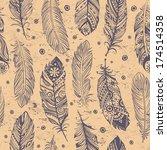 beautiful feather pattern... | Shutterstock .eps vector #174514358