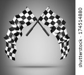 two crossed checkered flags.... | Shutterstock . vector #174514880