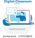 digital classroom home office...