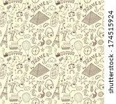 travel seamless pattern | Shutterstock .eps vector #174515924