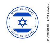 made in israel vector round... | Shutterstock .eps vector #1745166230