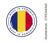 made in armenia vector round... | Shutterstock .eps vector #1745166563
