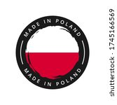 made in poland vector round... | Shutterstock .eps vector #1745166569