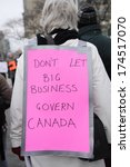 toronto january 31 a protester... | Shutterstock . vector #174517070
