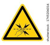 Warning Electric Fencing Symbol ...
