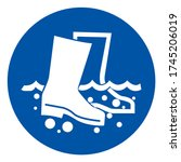 disinfect boots symbol sign ... | Shutterstock .eps vector #1745206019