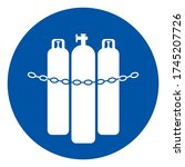 chained cylinders symbol sign ... | Shutterstock .eps vector #1745207726