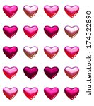 valentine's day hearts isolated ... | Shutterstock . vector #174522890