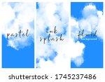 sky blue vertical banner set.... | Shutterstock .eps vector #1745237486