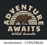 vintage outdoor bear... | Shutterstock .eps vector #1745258636
