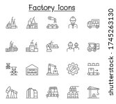 factory   industrial icons set...   Shutterstock .eps vector #1745263130