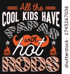 all the cool kids have papas...   Shutterstock .eps vector #1745267036