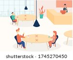 new normal  physical distancing....   Shutterstock .eps vector #1745270450