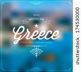 retro travel typographical ... | Shutterstock .eps vector #174530000