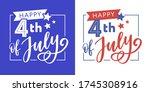 illustration of 4th of july... | Shutterstock .eps vector #1745308916