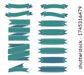 ribbon banners set template... | Shutterstock .eps vector #1745316479
