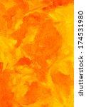 orange texture watercolor... | Shutterstock . vector #174531980