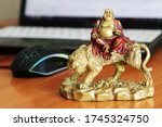 Laughing Buddha On The Desk In...